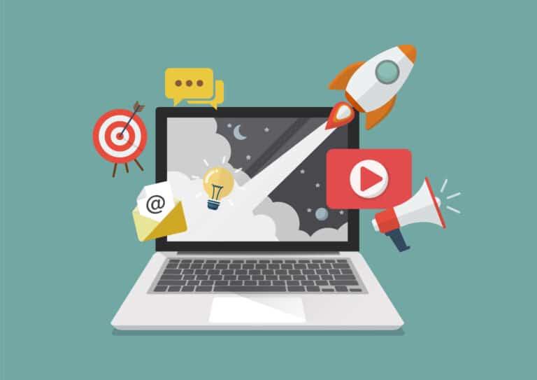 Gebieden van online marketing