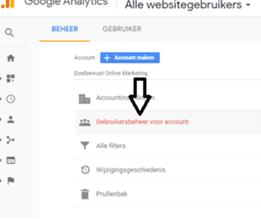 Google analytics gebruiker toevoegen stap 3
