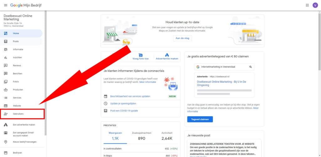 Google Mijn Bedrijf Gebruikers
