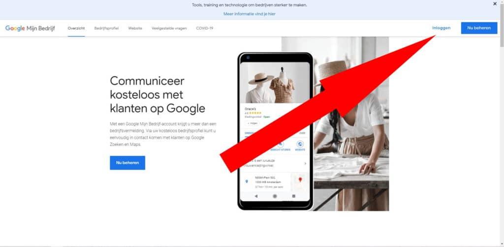 Google Mijn Bedrijf inloggen